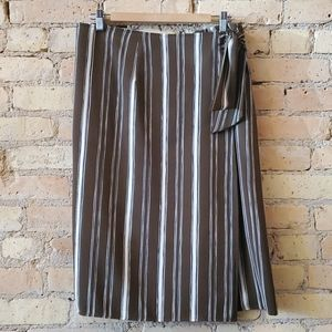 Sunday in Brooklyn Striped Wrap Skirt